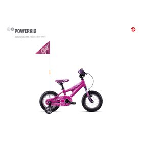 Ghost Powerkid AL 12 K Kids bike 2020 12 inch dark fuchsia pink RH 18 cm