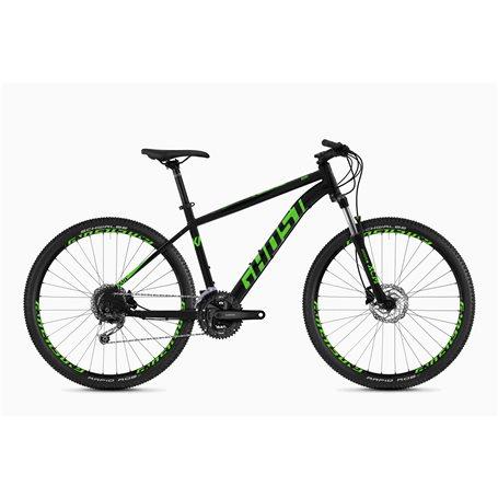 Ghost Kato 4.7 AL U MTB 2020 27.5 inch night black riot green size M (46 cm)