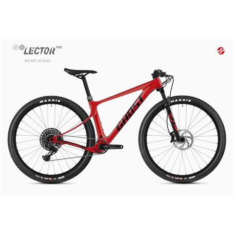Ghost Lector SF LC Pro MTB 2020 29 inch riot red jet black size M (44 cm)