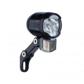 Büchel LED headlight Shiny 40 E-Bike 40 Lux 6-48V black