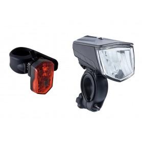 Büchel Lichtset Vail und Micro LED 80 Lux schwarz
