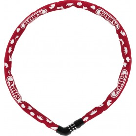 Abus Chain Lock Steel-O-Chain 4804C Symbols length: 75cm red