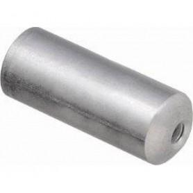 Endkappe Schaltzugaußenhülle SP40 Aluminium gedichtet, 4 mm, Aluminium, Silber,