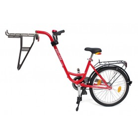 Roland Trailer add + bike with 3-speed hub gear color red