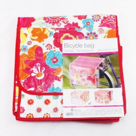 Pannier rack bag Double bag Flowers red SOPO