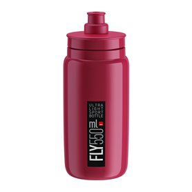 Elite drinking bottle Fly 2020 550ml amaranth, black logo