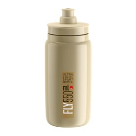 Elite drinking bottle Fly 2020 550ml beige, brown logo