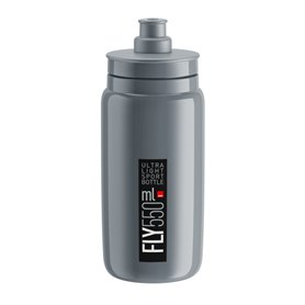 Elite drinking bottle Fly 2020 550ml grey, black logo