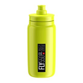Elite Trinkflasche Fly 2020 550ml yellow fluo, black logo