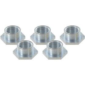 VAR Sechskant-Ersatzmuttern CD-13002 für Schaltaugen 5.85mm Alurahmen 5 Stück