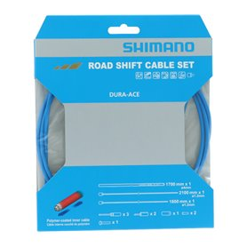 Shimano derailleur cable set Road polymere coated stainless steel 1x1800mm
