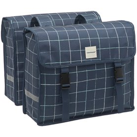 New Looxs Doppelpacktasche Fiori Double Check blue 30 Liter