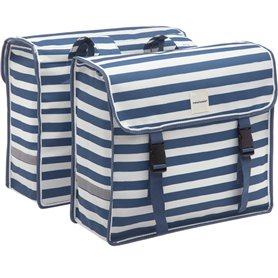 New Looxs Doppelpacktasche Fiori Double Blue Stripe 30 Liter