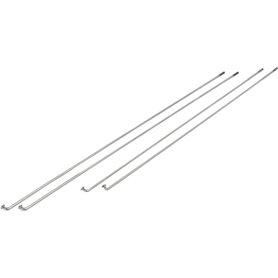 Exal spokes DD 2.00 / 1.80 / 2.00 Niro 266mm silver 100 pieces