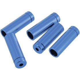 VAR Außenhüllenendkappen FR-01953 4mm für Schaltaußenhüllen Alu 100 St. blau