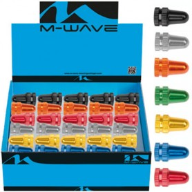 Bike Valve Caps Aluminum colors AV/SV/DV Display with 30 pcs.
