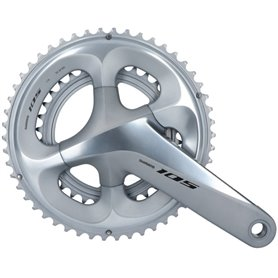 Shimano crankset 105 FC-R7000 2x11 165mm 50-34 teeth silver