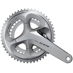 Shimano crankset 105 FC-R7000 2x11 165mm 53-39 teeth silver