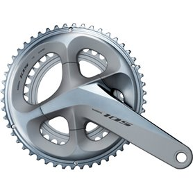Shimano crankset 105 FC-R7000 2x11 172.5mm 50-34 teeth silver