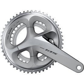 Shimano crankset 105 FC-R7000 2x11 172.5mm 53-39 teeth silver