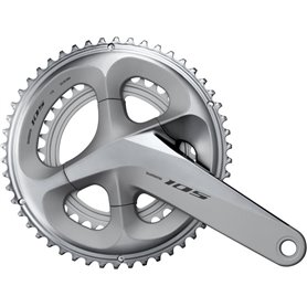 Shimano crankset 105 FC-R7000 2x11 175mm 53-39 teeth silver
