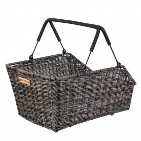 Shopping basket CENTO rattan look MIK nature brown + MIK Adapter plate