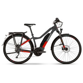 Haibike Trekking S 9 low standover 500Wh 2021 anthracite red frame size 48cm