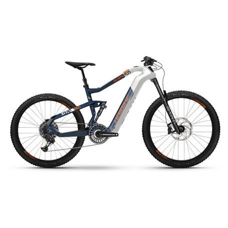 Haibike XDURO AllMtn 5.0 i630Wh 2019/20/21 Flyon white blue frame size 44cm
