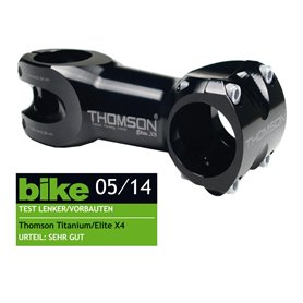 Thomson A-Head Stem Elite X4 black 1-1/8 inch x 0° x 40mm x 31.8mm handlebar clamp