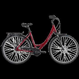 Hercules Valencia R7 City bike 2021 Women 28 inch dark red shiny frame size 56cm