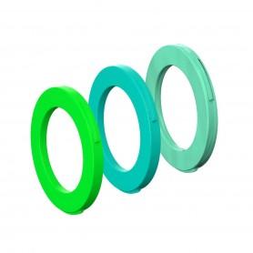 Magura Blenden-Ring Kit für Bremszange, 4 Kolben Zange, ab MJ2015 (grün, cyan, mintgrün) (VE   12 Stück)