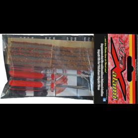 MaXalami MaXi Reparatur Set schlauchlose Reifen 2 Werkzeug + 10 Flickstreifen