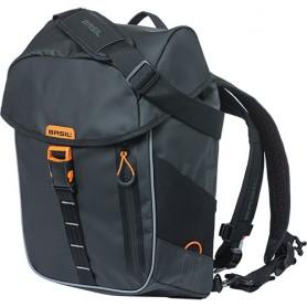 Basil Rucksack Miles Tarpaulin Daypack 17 Liter 31x17x44cm schwarz orange