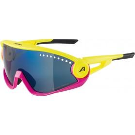 Alpina Sonnenbrille 5W1NG CM+ Rahmen pneapple magenta Glas blue mir