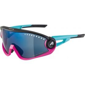 Alpina Sonnenbrille 5W1NG CM+ Rahmen blue magenta black Glas blue mir