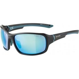 Alpina Sonnenbrille Lyron Rahmen black matt dirtblue Glas blue mirror