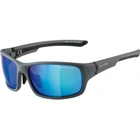 Alpina Sonnenbrille Lyron S Rahmen cool grey black Glas blue mirror
