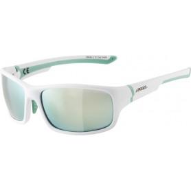 Sonnenbrille Alpina Lyron S Rahmen white pistachio Glas emerald mirror