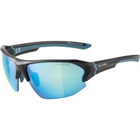 Alpina Sonnenbrille Lyron HR Rahmen black matt blue Glas blue mirror