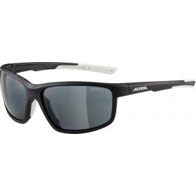 Alpina Sonnenbrille Defey Rahmen black matt white Glas black mirror