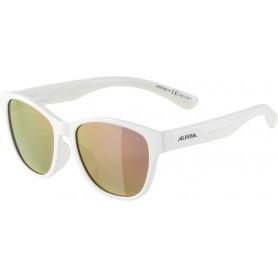 Alpina Sonnenbrille Flexxy Cool Kids I Rahmen white Glas pink mirror