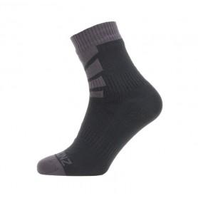 SealSkin Socken z Warm Weather Ankle Gr.L (43-46) schwarz/grau wasserdicht