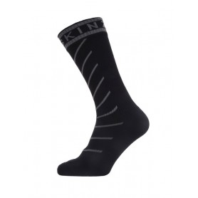 SealSkinz Warm Weather Mid Length Hydrostop Socken Gr. S 36 - 38 schwarz grau