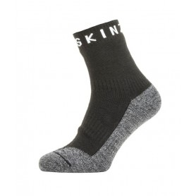 SealSkin Socken z Warm Weather Soft Touch Gr.M (39-42) Ankle Length schwarz/grau