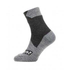SealSkinz All Weather Ankle Socken Gr. S 36 - 38 schwarz grau