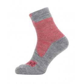 SealSkinz All Weather Ankle Socken Gr. L 43 - 46 rot grau