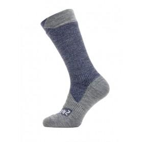 SealSkinz All Weather Mid Length Socken Gr. S 36 - 38 navy grau