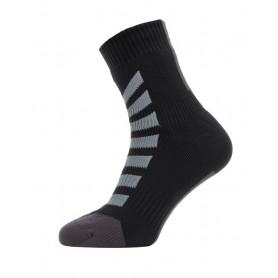 SealSkinz All Weather Ankle Hydrostop Socken Gr. S 36 - 38 schwarz grau