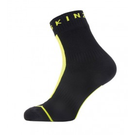 SealSkinz All Weather Ankle Hydrostop Socken Gr. S 36 - 38 schwarz neon gelb
