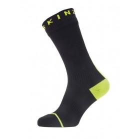 SealSkinz All Weather Mid Hydrostop Socken Gr. S 36 - 38 schwarz neongelb